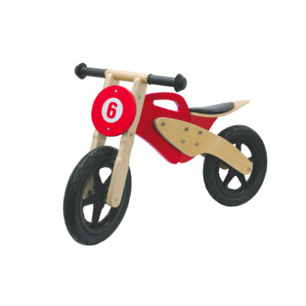 JAMARA Kids Laufrad - Holzmotorrad, rot