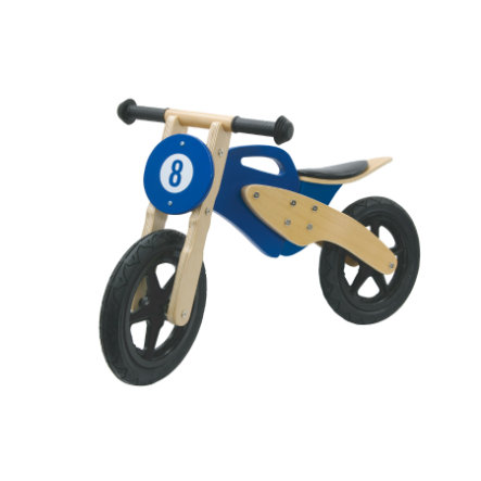 JAMARA Kids - Motocicletta in legno senza pedali, blu