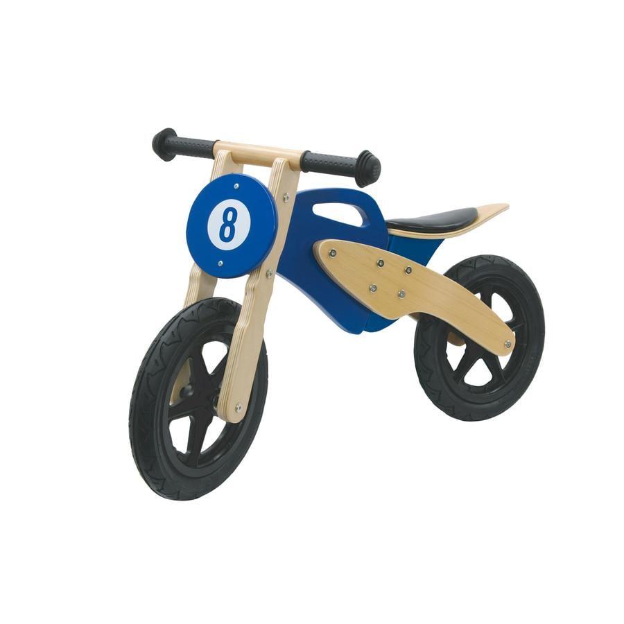 JAMARA Kids Laufrad - Holzmotorrad, blau