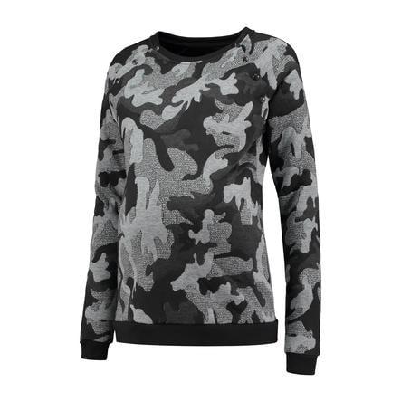 LOVE2WAIT Stillsweater Camouflage Grau