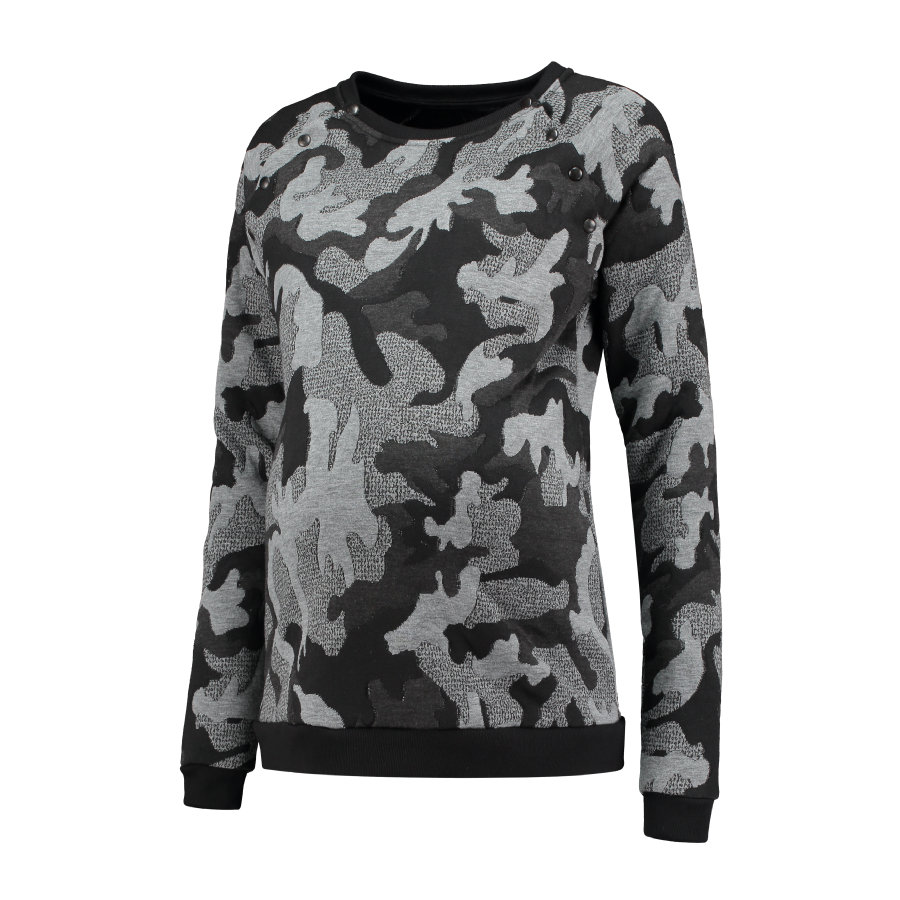 LOVE2WAIT Pull Camouflage Gris Camouflage Stillsweater