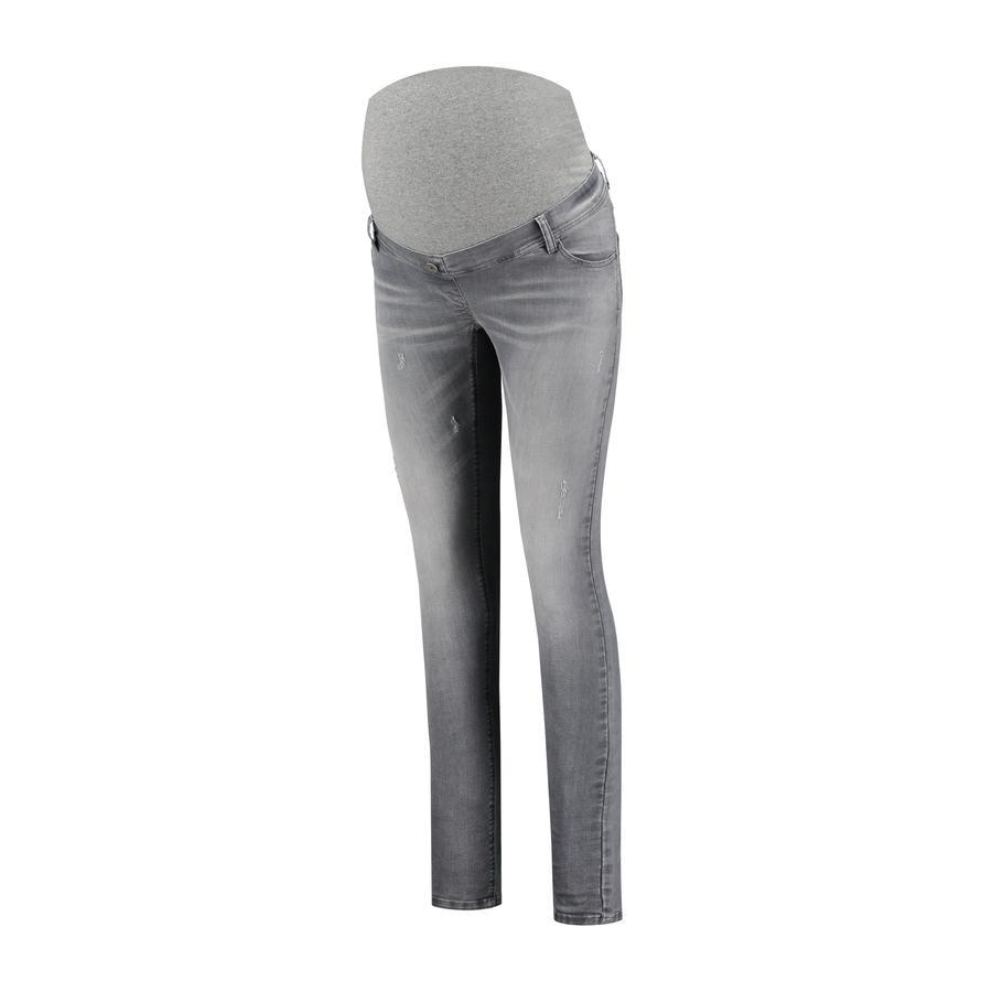 LOVE2WAIT Moderskap jeans Sophia Destroyed Grey Denim