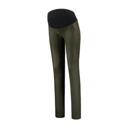LOVE2WAIT Umstandsjeggings Coated Green