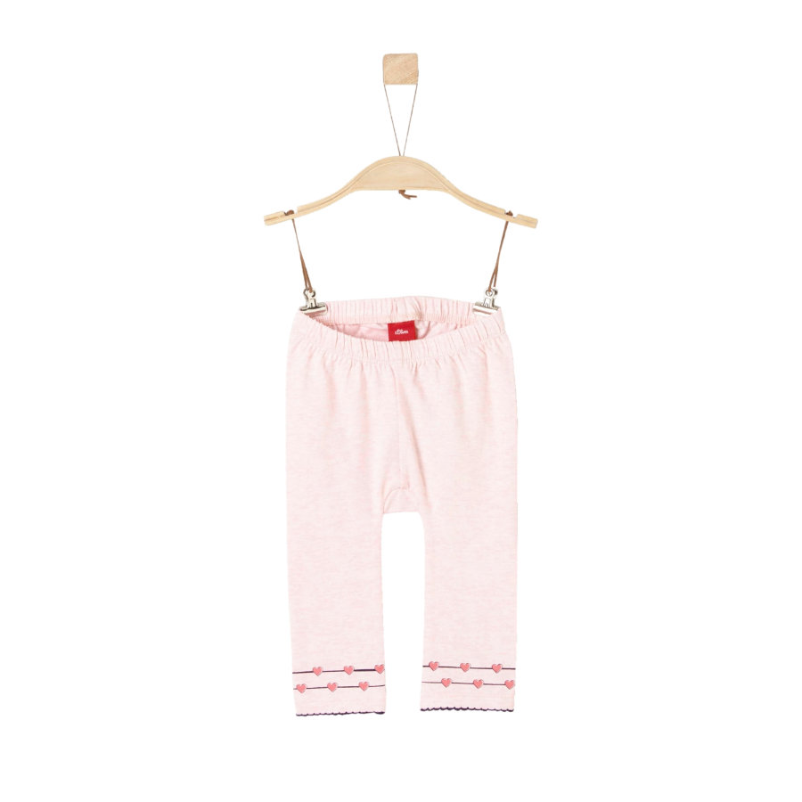 s.Oliver Girl Leggings Legging rose pâle melange