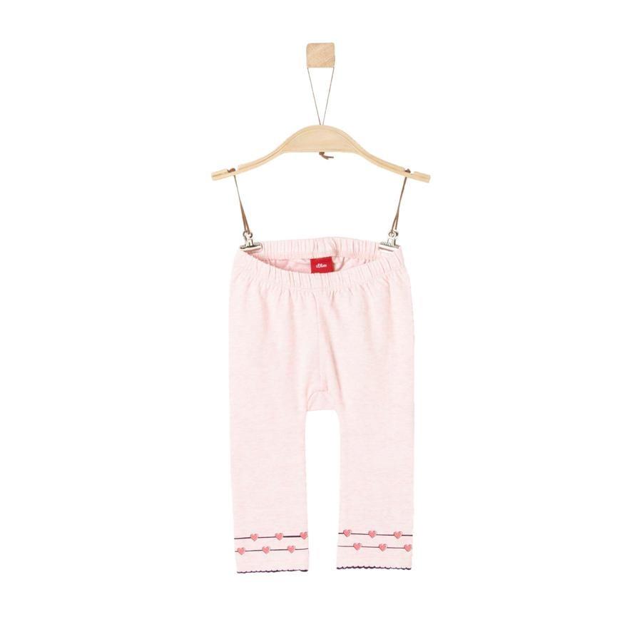 s.Oliver Girl s Mallas mélange rosa claro
