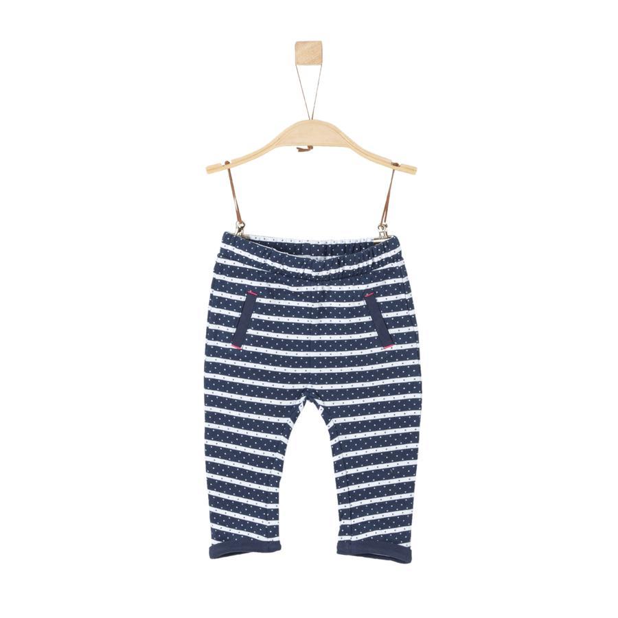 s.Oliver Girl pantalon de survêtement à rayures bleu foncé