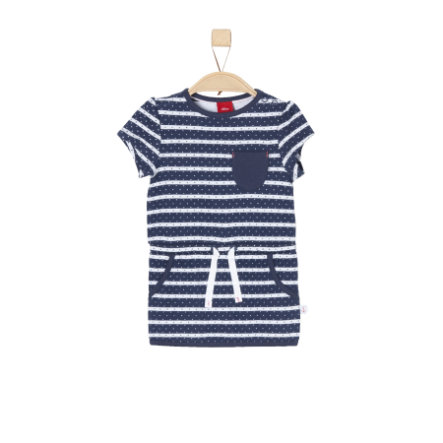 s.Oliver Girls Kleid dark blue stripes