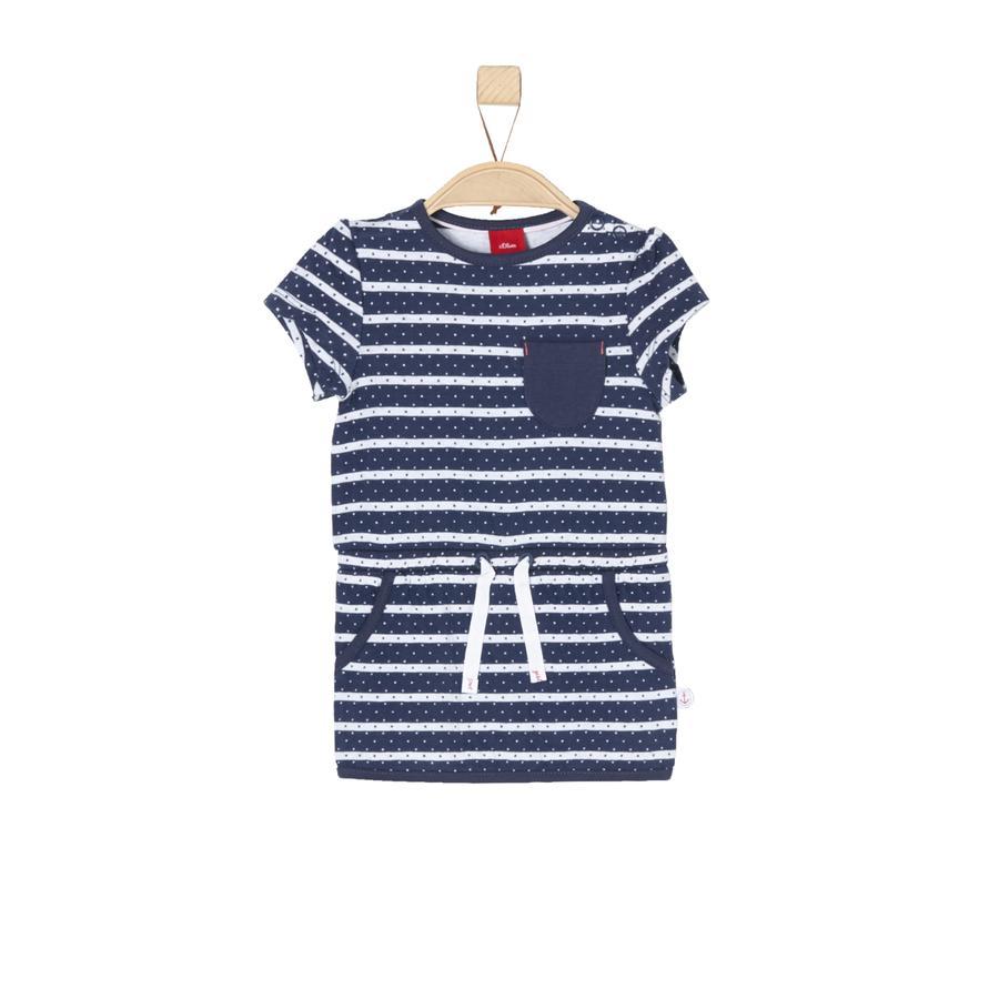 s.Oliver Girl s jurk donkerblauwe strepen
