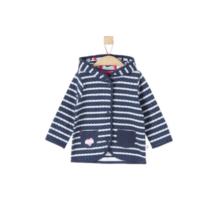 s.Oliver Girls Sweatjacke dark blue stripes