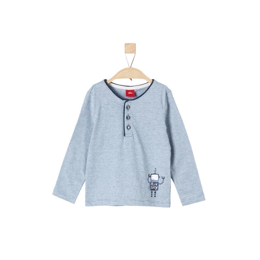 s.Oliver Boys Camisa manga larga azul