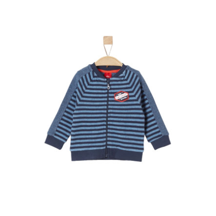 s.OLIVER Sweatjacka blue stripes