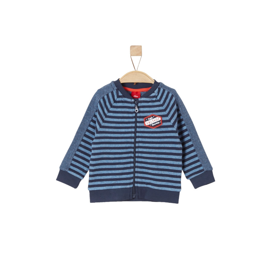 s.Oliver Boys Sweatjacke blue stripes