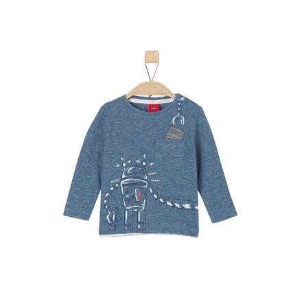 s.Oliver Boys Overhemd met lange mouwen blauw veelkleurige strepen