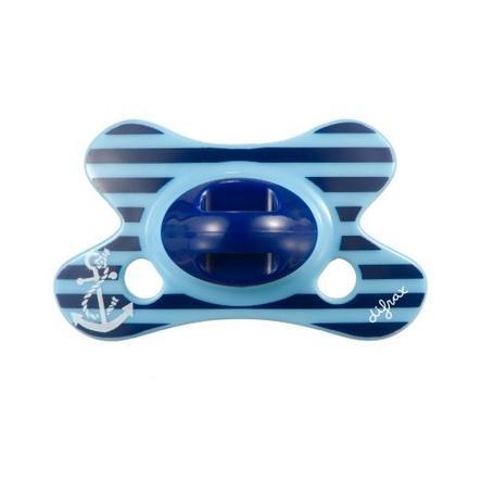 "DIFRAX Smoczek Dental Silikon ""Crystal"" 0-6M niebieski"