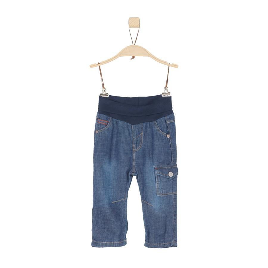 s.Oliver Boys Spodnie Jeans blue denim non stretch regular