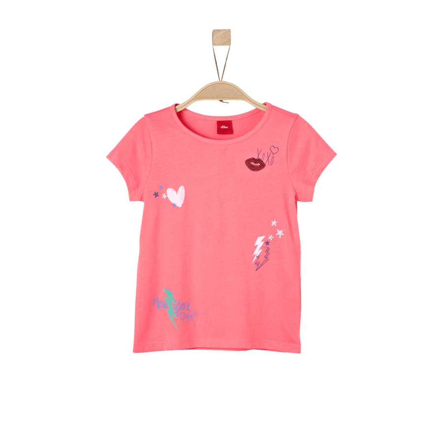s.Oliver Girls T-Shirt coral