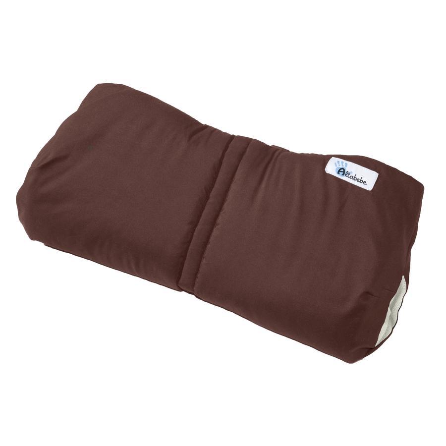Altabebe Protège-mains pour poussette Active, brun/whitewash