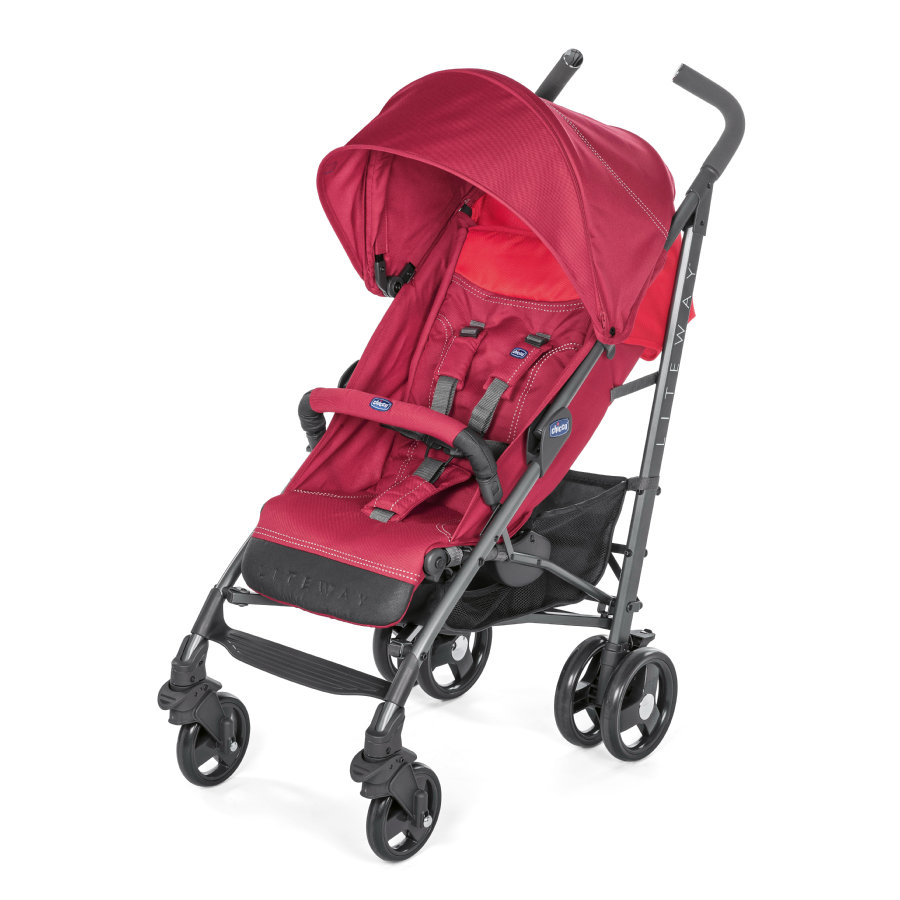 chicco Silla de paseo Lite Way³ Red Berry