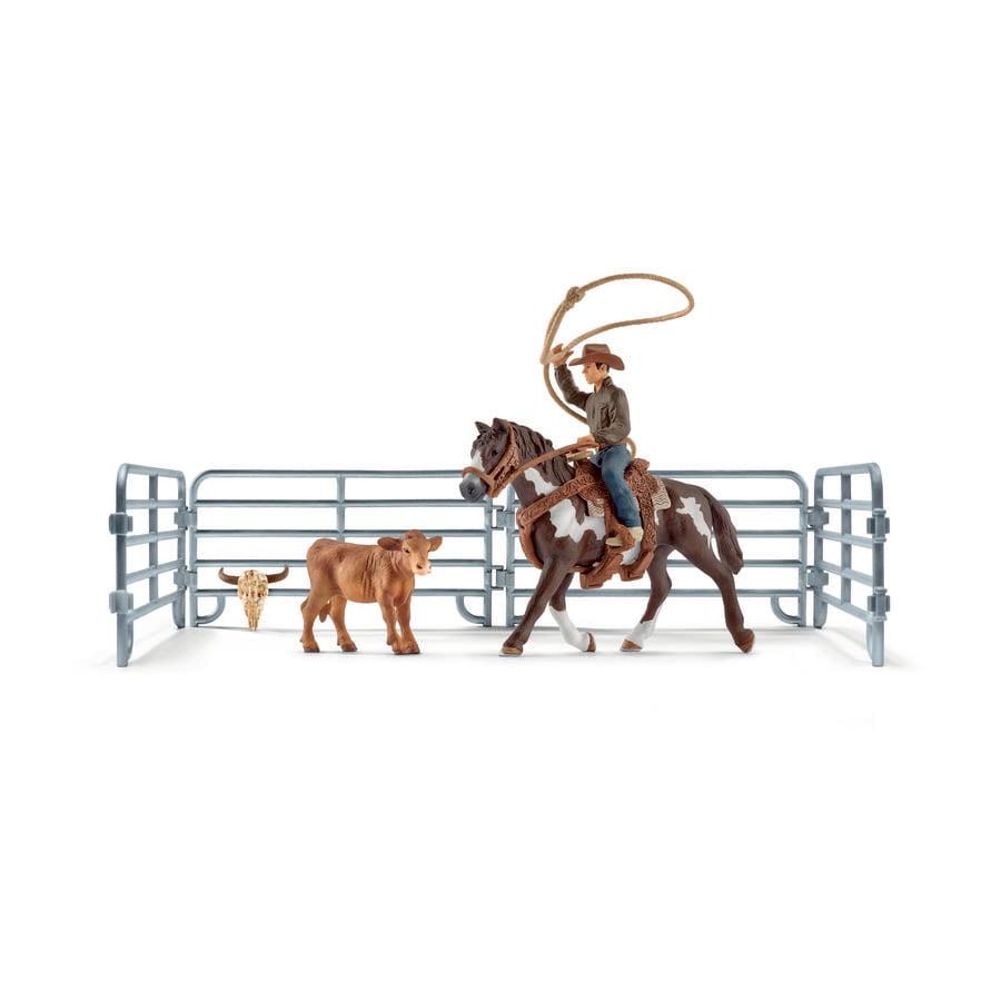Schleich Figurine Capture au lasso et cowboy 41418