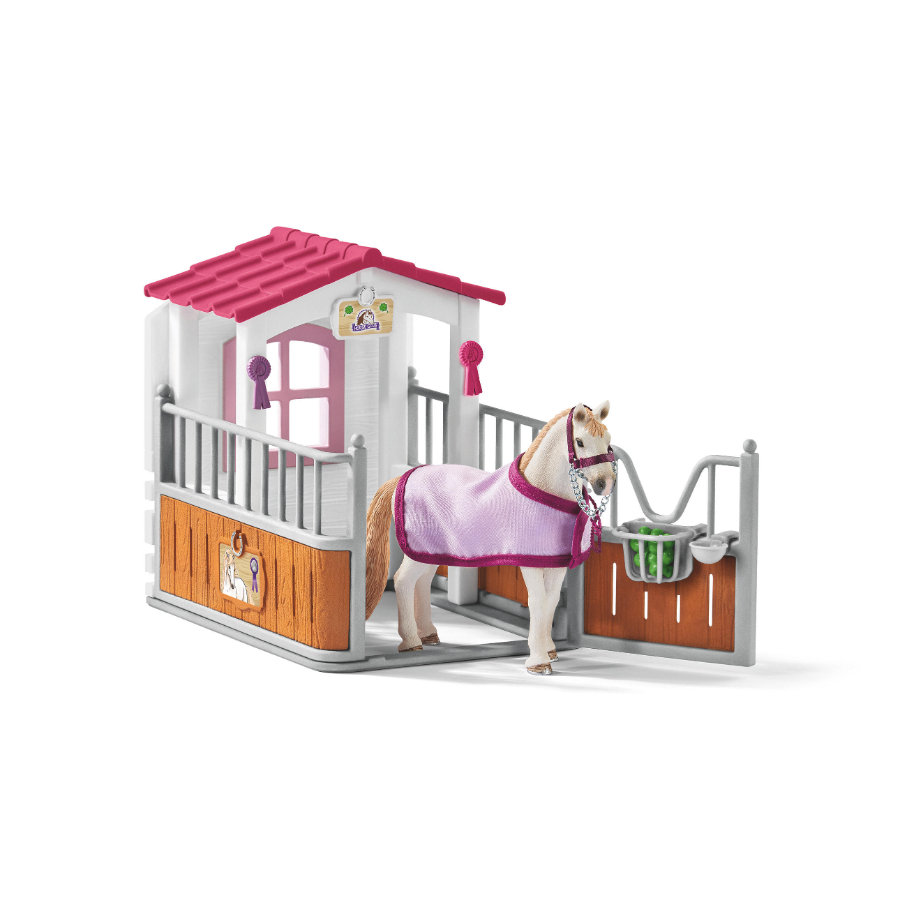 Schleich Hästbox med lusitanosto 42368