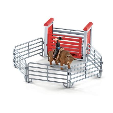 Schleich Kovboj na býku v ohradě 41419