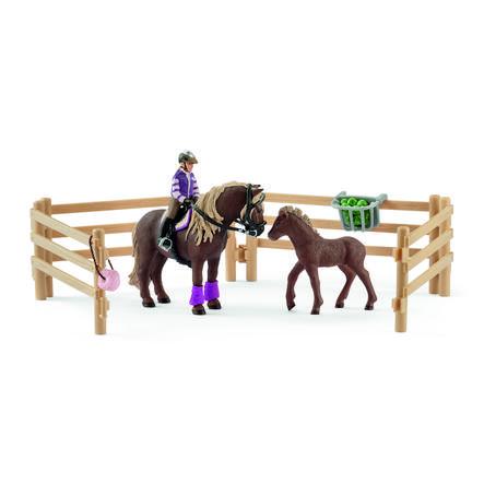 Schleich Cavallerizza con pony islandesi 42363