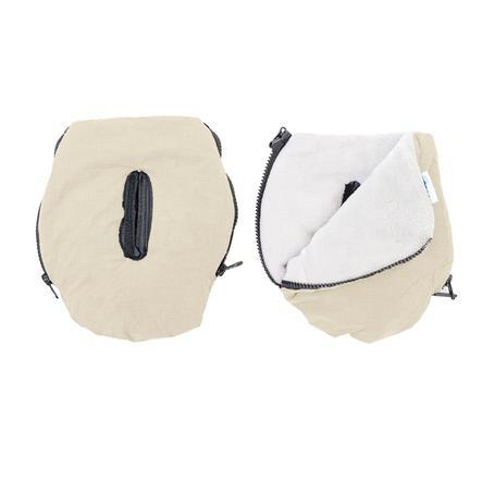 Altabebe Protège-mains pour poussette Alpin, beige/whitewash