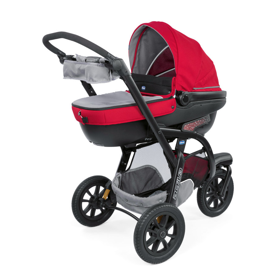 CHICCO Passeggino Trio Activ3 con KIT-Auto Red Berry