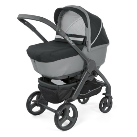 chicco Combi Kinderwagen Duo Stylego Up Crossover Jet Black