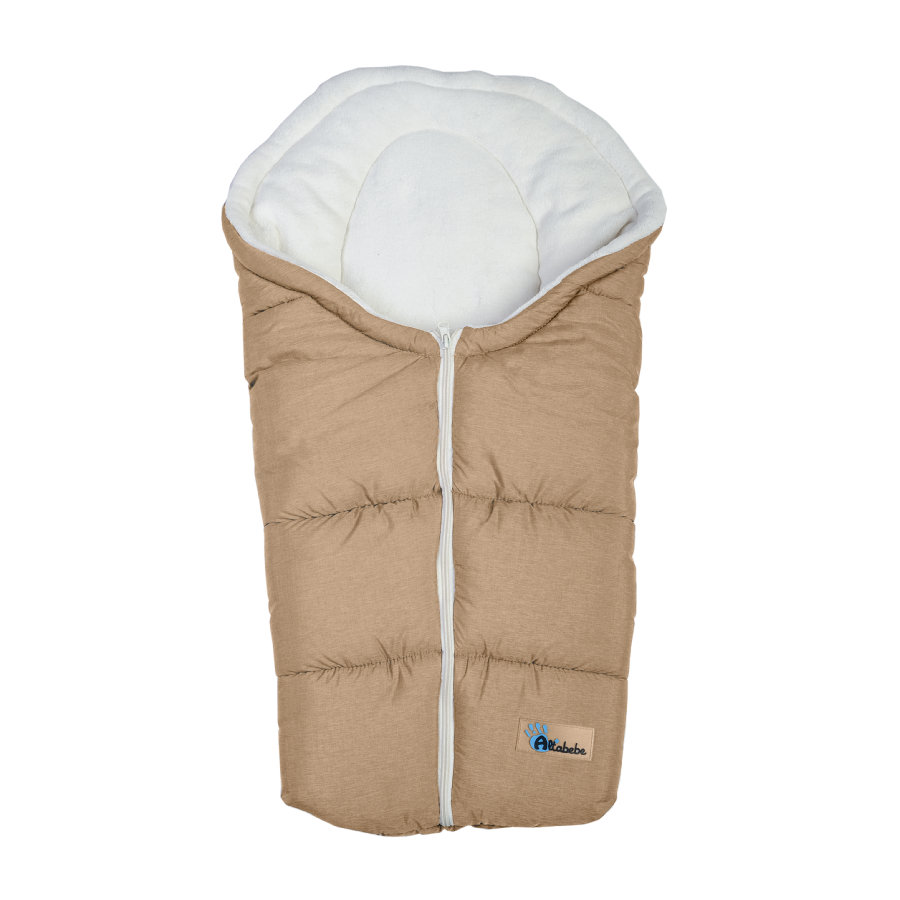 ALTABEBE Winter Footmuff Alpine, for Buggy and Pram light brown - white wash