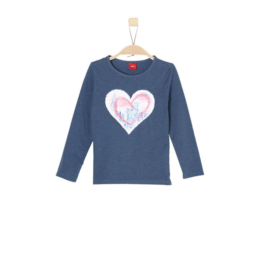 s.Oliver Girls Langarmshirt blue melange