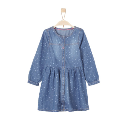 s.Oliver Girl s jeans vestido azul denim no stretch