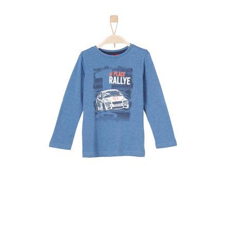 s.Oliver Boys Koszula z długim rękawem w kolorze niebieskim melanżowym.