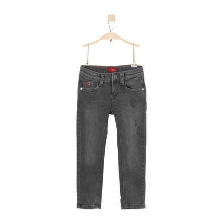 s.Oliver Boys Jeans grey black denim regularny dżins.