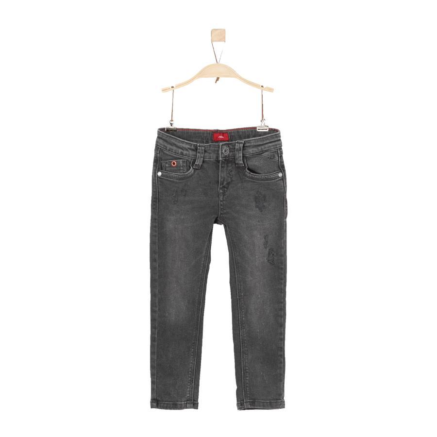 s.Oliver Boys Jeans grey black denim regular