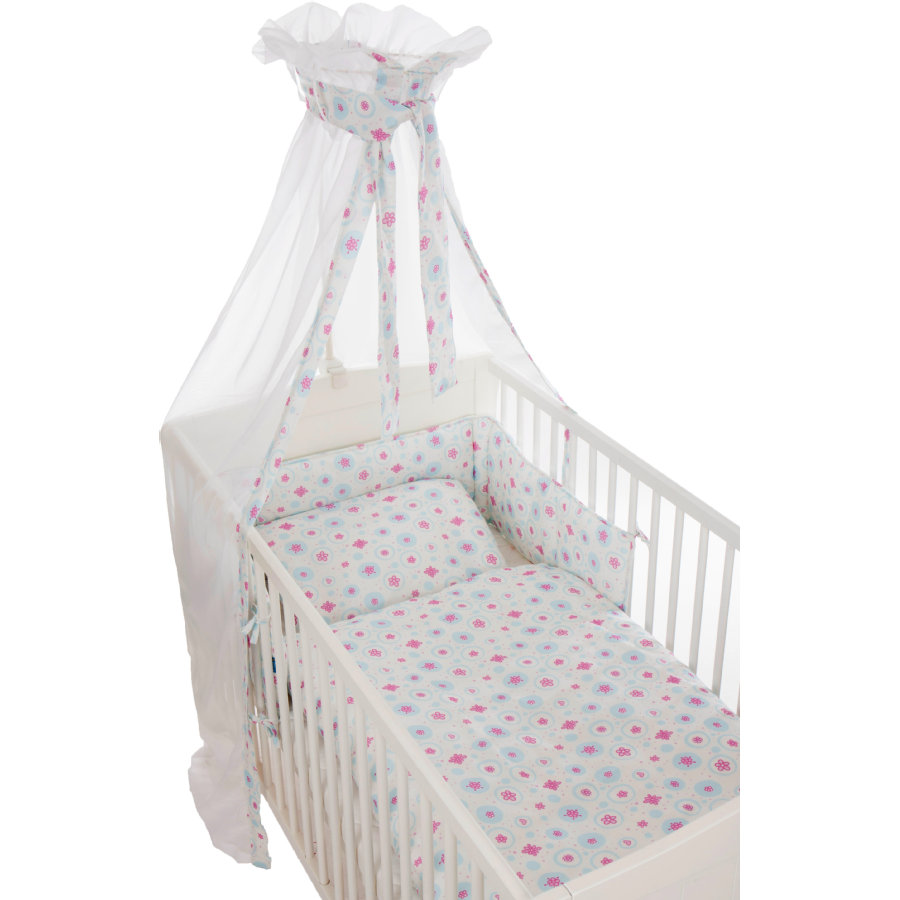 fillikid Beddengoed set Jersey, bloem, pastel