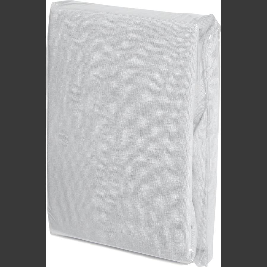 FILLIKID Dra-på-lakan Jersey 90 x 40 cm vit