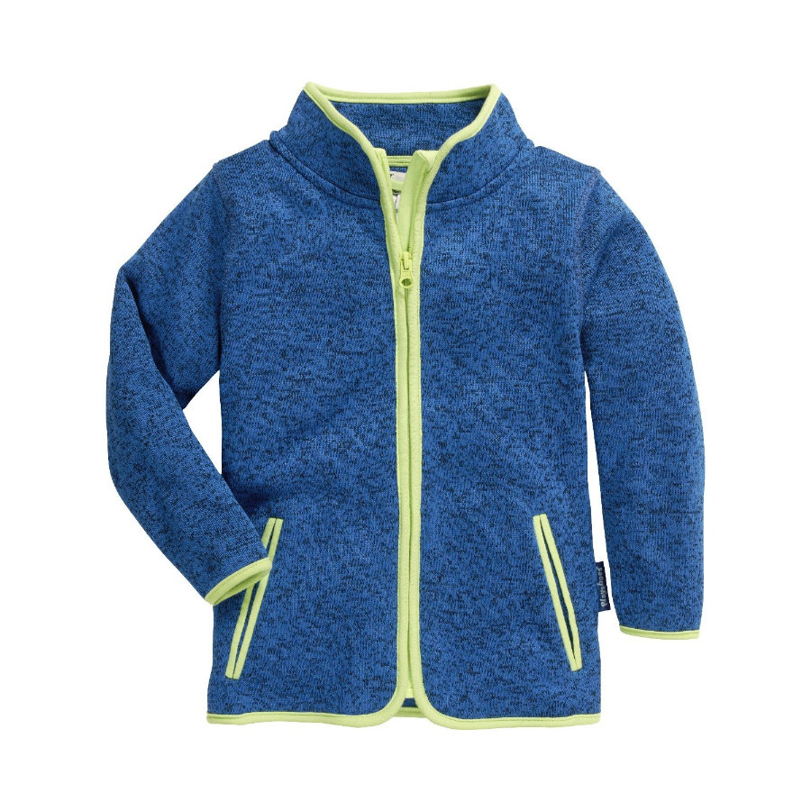Playshoes Giacca in pile a maglia blu