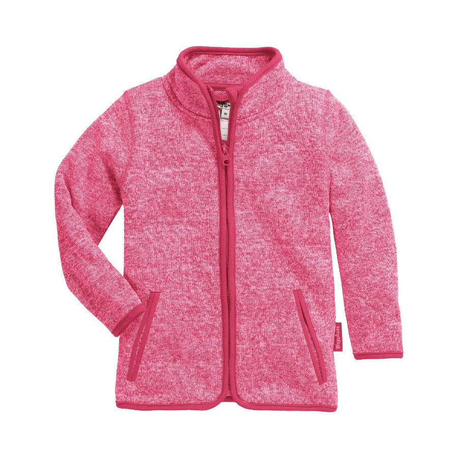 Playshoes Giacca in pile a maglia rosa