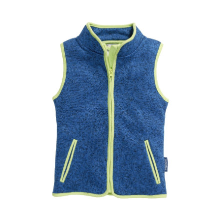 Playshoes Strickfleece-Weste blau