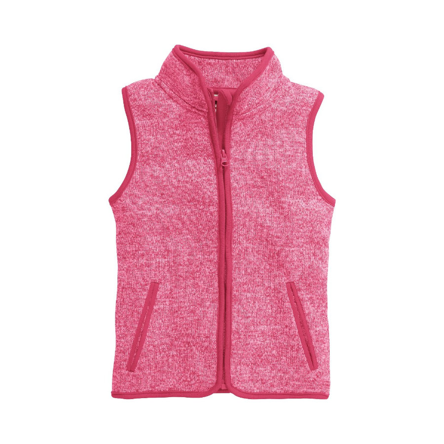 Playshoes Gilet in pile a maglia rosa