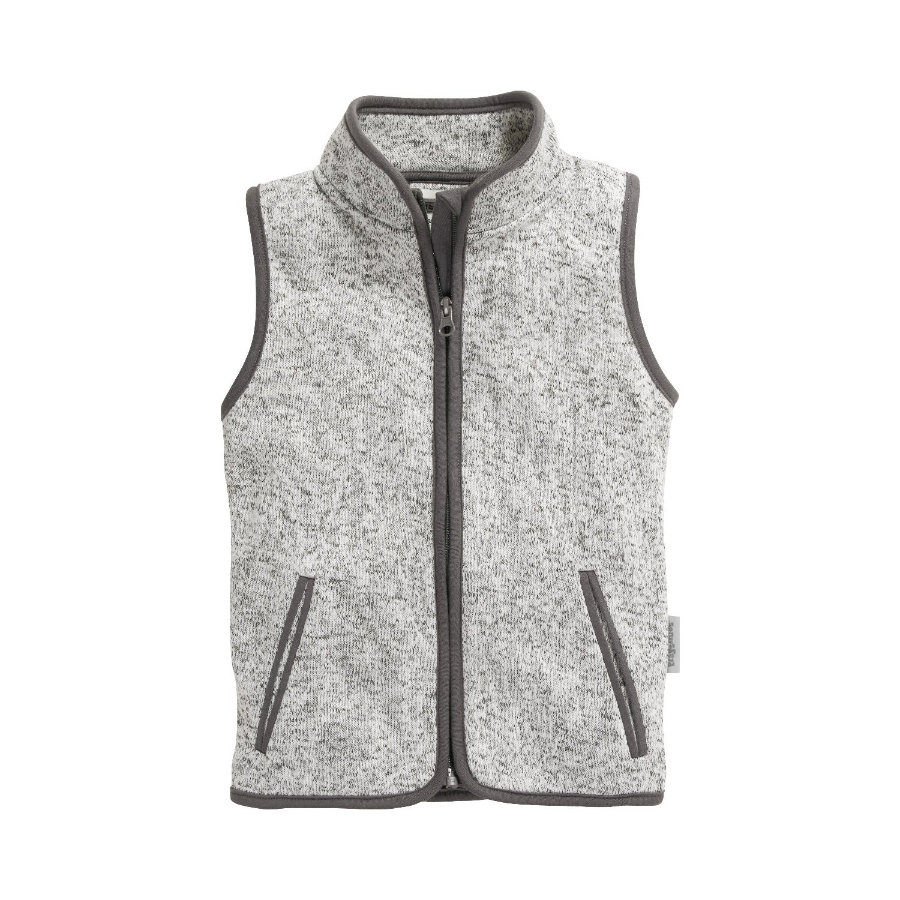 Playshoes Gilet in pile a maglia grigio