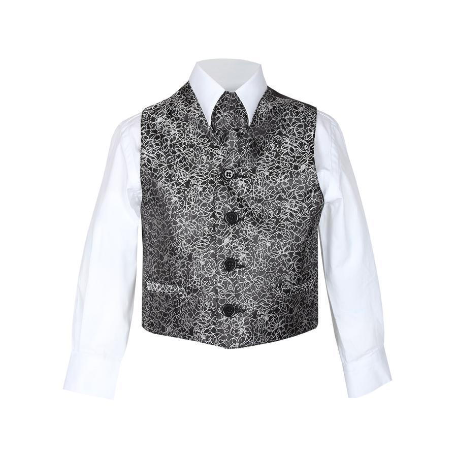 GOL Boys Jacquard-Weste black-silver