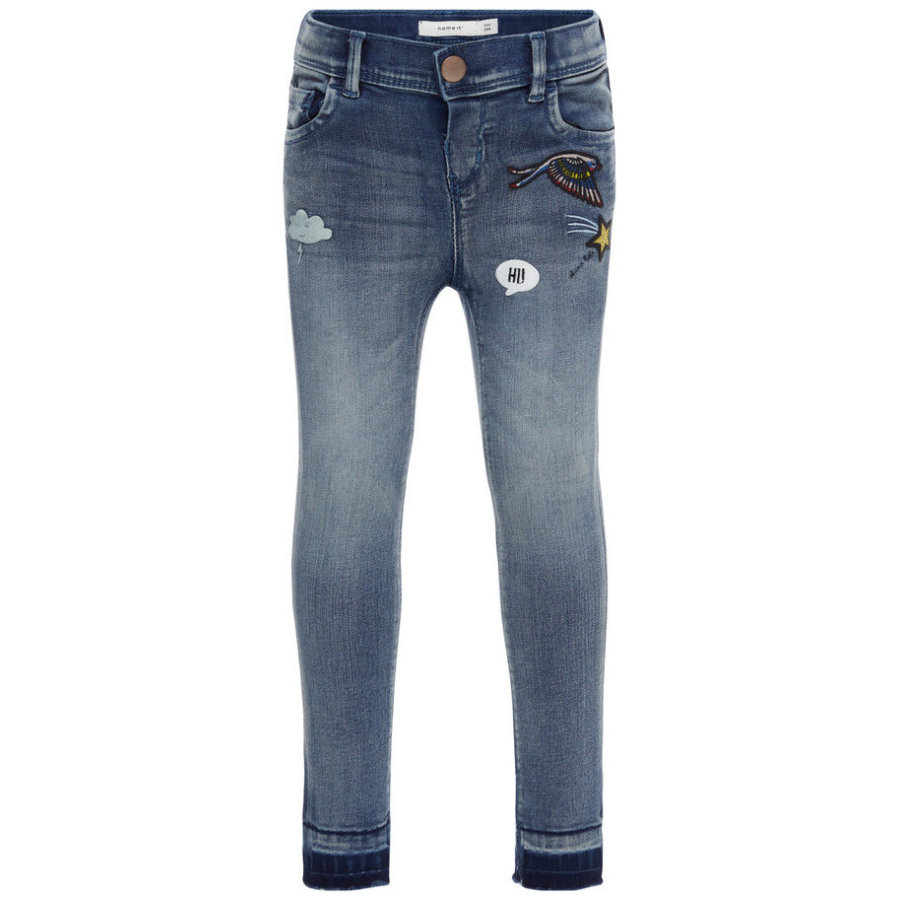 name it Girls Spodnie Jeans Anne medium blue denim