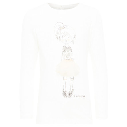 name it Girls Langarmshirt Gebina snow white