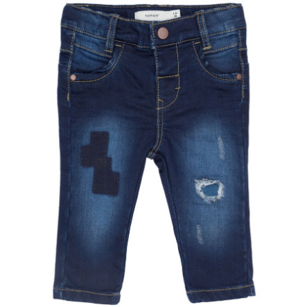 name it Girl s spijkerbroek donkerblauw denim