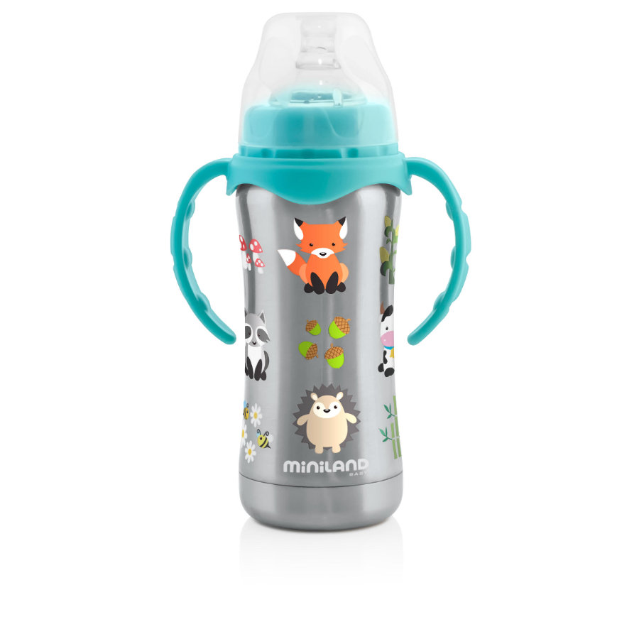miniland Thermosflasche Thermobaby silber 180 ml