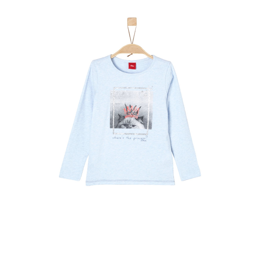 s.Oliver Girls Longsleeve light blue melange