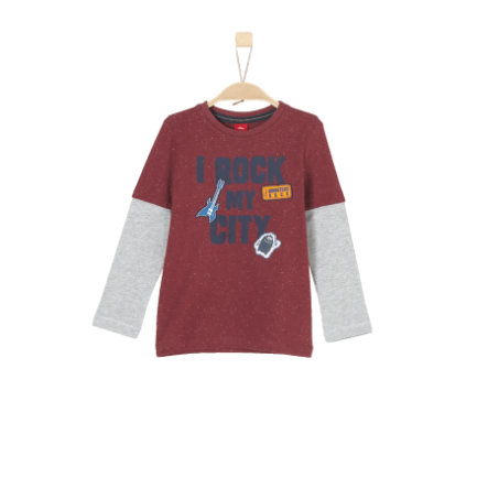 s.Oliver Boys Langarmshirt red multicolored stripes