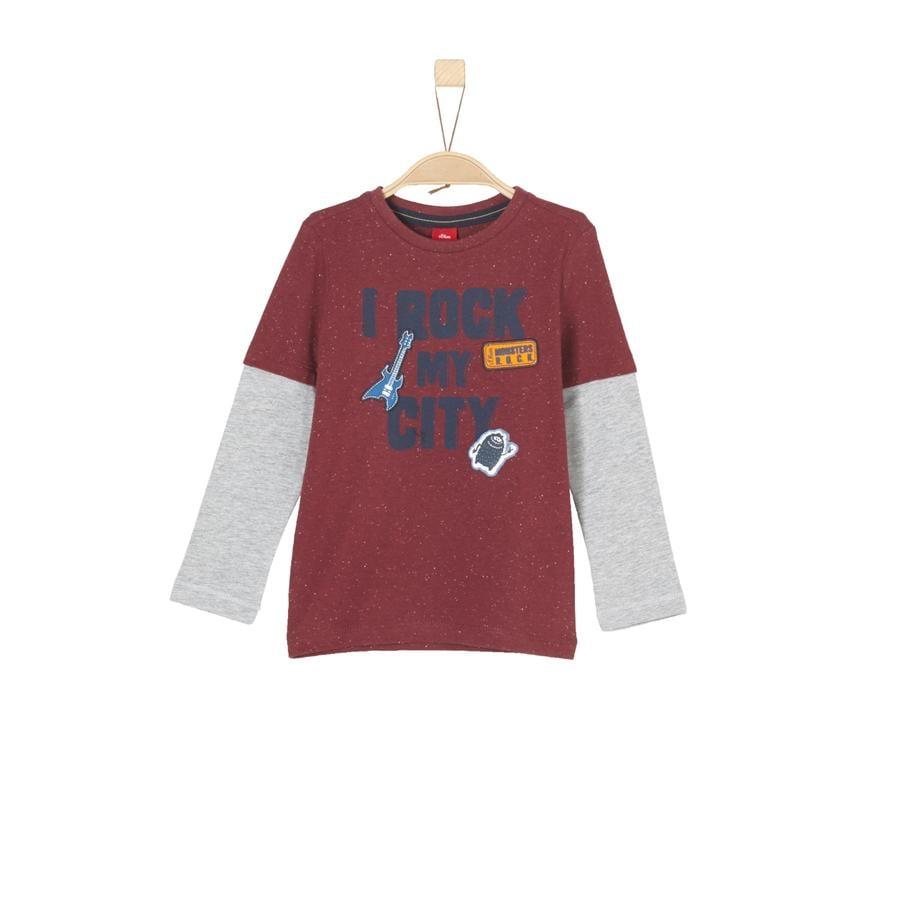 s.Oliver Boys Camisa de manga larga con rayas rojas multicolores